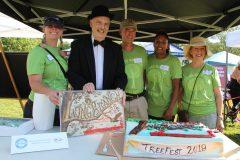 135  Long Branch Birthday Cake cutting ceremony