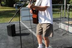 Open mic musician